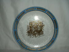 """Vintage Georges Briard 8 1/4"""" Glass Plate Gold Greecian Motif"""