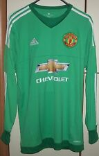 Adidas Manchester United Goalkeeper Home Jersey shirt camiseta 2015 2016