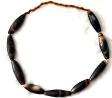 """Large Antique Agate Beads Necklace 25"""" Long"""