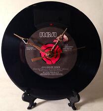 "Recycled ELVIS PRESLEY 7"" Record / Jailhouse Rock / Record Clock"