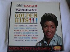 SARAH VAUGHAN'S GOLDEN HITS! VINYL LP 1961 MERCURY RECORDS MONO MISTY, ETERNALLY