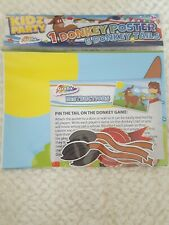 Grafix Kids Childrens Pin The Tail On The Donkey Birthday Party Game