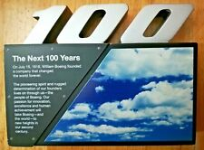 Boeing The Next 100 Years Anniversary Paperweight Airplanes Aviation Plaque
