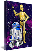 C-3PO R2-D2 Star Wars Framed Canvas Print Art Picture A4 A3 A2 A1 Ready To Hang
