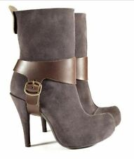 PEDRO GARCIA SHOES ADDISON PLATFORM HARNESS BOOT BOOTIE CHARCOAL CAFE 7.5 $550