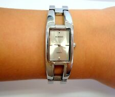Kimio Silver Tone Stainless Steel Ladies Watch Bangle