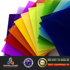 COLOURED ACRYLIC / PERSPEX SHEET (A4) SIZE (297x210x3mm) - SENT WITH TRACKING!