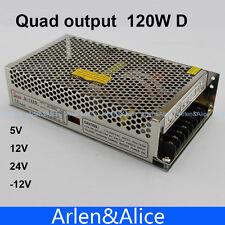 120W D Quad output 5V 12V 24V -12V Switching power supply AC to DC SMPS