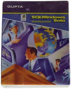"GUPTA SQL WINDOWS SOLO 5.0 Desktop Development VTG SEALED Software 3.5"" Diskette"