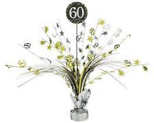 CENTERPIECE HAPPY BIRTHDAY 60 46 cm Geburtstag Kaskade Tischdeko