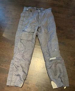 Men's Spyder Ski Snowboard Pants Waterproof Gray Size XL
