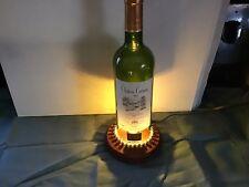Handmade Wine Bottle Table Lamp, Wine Bottle Lamp, Chateau German 2014