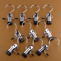 10X Kleiderbügel Metall Stiefelklammer Schuhklammer Hosenbügel Clip Einzel Haken