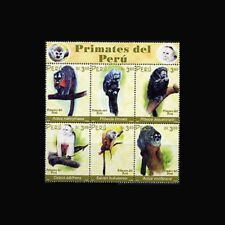 Peru, Sc #1338, Blocks of 6, MNH, 2002, Primates, animals, 11AGIDcx