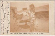 CGH: Postcard, Rickshaw: City Hall Hotel, Cape Town-Leeds, 10 Sep 1904
