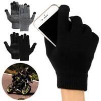 Touch Screen Work Finger Gloves Mens Wemens Winter Warm Anti-slip Bike Ski