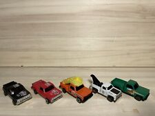 5 Vintage 80's Unbranded Chevy C10 Stepside Pickup Airport & Tow Trucks Diecast