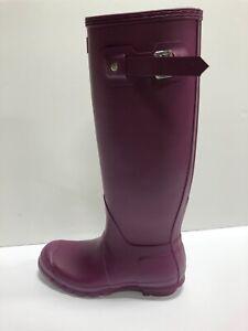 Hunter Original Tall Rain Boots Purple Womens US8 M