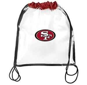 NFL San Francisco 49ers Clear Drawstring Backpack