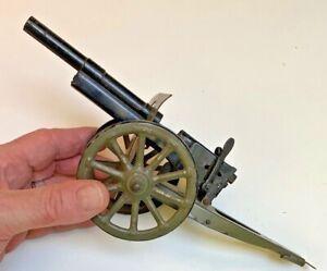 Elastolin Marklin Lineol Hausser Military Field Cannon~German 1930 Pre war~RARE