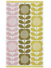 2 x Orla Kiely Hand Towels - summer flower stem - lemon