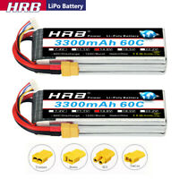 2pcs HRB 14.8V 4S 3300mAh LiPo Battery 60C XT60 for Rc Car Truck Quad Drone FPV