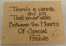 Imaginations Warmth And Joy Never Ends In Heart Of Friends Wooden Rubber Stamp