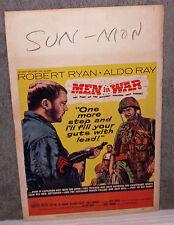 MEN IN WAR original 1957 KOREAN WAR movie poster ROBERT RYAN/ALDO RAY