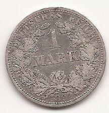 DEUTSCHES KAISERREICH 1 MARK 1892 A BERLIN, Silber, ss, äußerst RAR!!