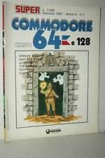 RIVISTA SUPER COMMODORE 64 E 128 ANNO 4 NUMERO 1 GENNAIO 1987 USATA FR1 54719