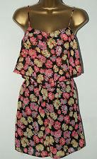 21e50bceb31 Ladies Ex Atmosphere Primark Black Floral Jumpsuit Playsuit Size 6 - 20