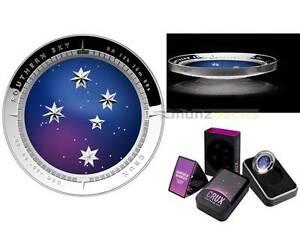 5$ Southern Sky Crux Cross Australia 2012 Silver 1 OZ Silver Pp Proof