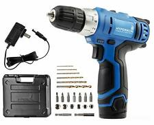 """Cordless Power Drill, 3/8"""", 12V Lithium, Includes Driver Set and Project Kit"""
