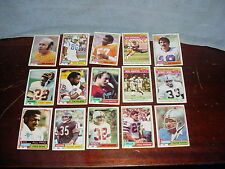 1981 Topps Football 39 card lot Dan Fouts Fred Dean