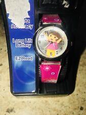 Dora The Explorer Watch NIB PINK FLORAL CHILDRENS