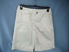 AMERICAN EAGLE LONGER LENGTH CASUAL SHORTS FLAT FRONT CREAM IVORY SIZE 30