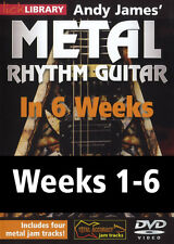 Lick Library METAL RHYTHM GUITAR IN 6 WEEKS With Andy James 6 VIDEO Lessons DVDs