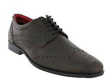 ROUTE 21 cuir marron foncé confort à lacets chaussure habillée taille hommes