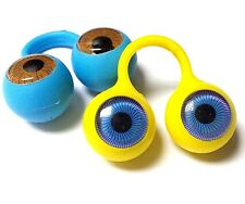 24pc Finger Eye BLUE BROWN EYEBALL Puppet Pinata Birthday Party Favors Googiiy