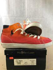 POLO Ralph Lauren Mens Walker Canvas Lace Up Fashion, Red Orange, Size 13D J7