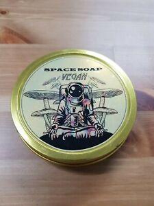 MA Space Soap Vegan Shaving Soap Used