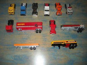 Matchbox  Diecast Tractor Trailers  Semi  Lot Ferrari  Getty Super Gas Etc..