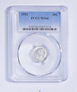 MS66 1952 Roosevelt Dime - Graded PCGS *986