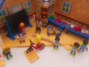 PLAYMOBIL Take Along School House with Accessories Pencils Students Teacher Bike
