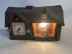 Vintage haddon home sweet home mantel clock granny rocking chair works fine!