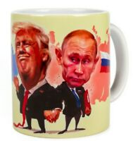Putin & Trump 10 Fl oz Mug Coffee Tea Cup w/ Russian and US Presidents Souvenir