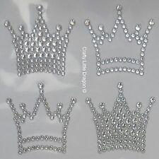 6 x Crowns Clear Rhinestone Diamante Stick on Self Adhesive GEMS Frozen Theme