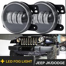 """2pcs 4"""" 60W CREE LED Fog Light 6500k White Lights for Jeep Wrangler JK 2007-2017"""