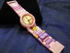 Child's Lego Learn to Tell Time Watch with Pink Band  ME-1104