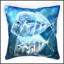 Blue Tropical Fish Throw Pillow Cover
